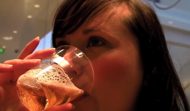 Cailin drinking on a beer tour in Iceland - How to get drunk in Iceland