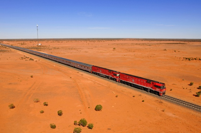 Taking The Ghan in Australia