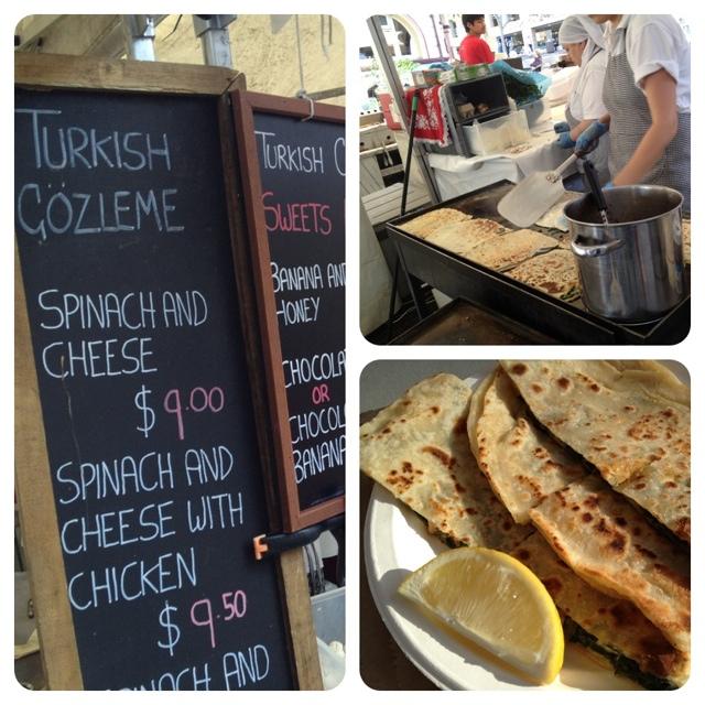 Turkish Gozleme at the Rocks Market in Sydney - #FridayFoodPhoto - Turkish Gözleme