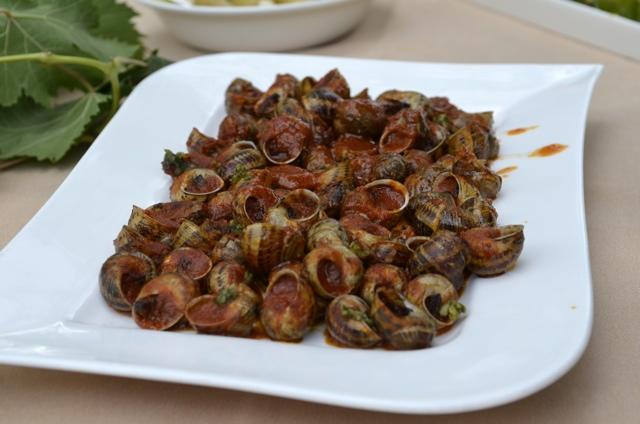 Eating Escargot in Costa Brava