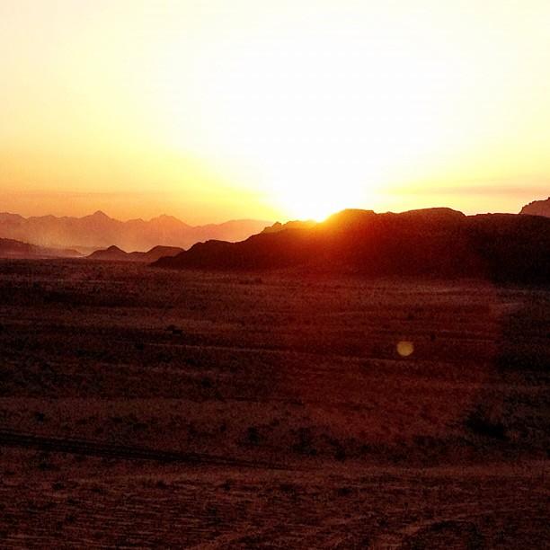 14 wadi rum sunset