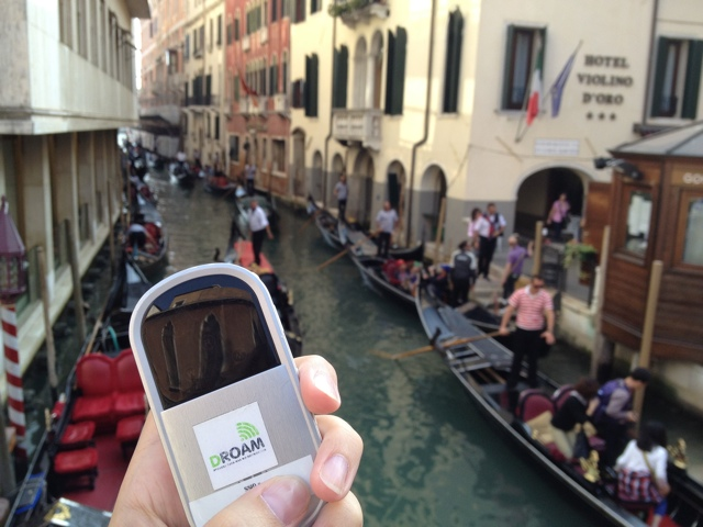 Using a Droam in Europe - Venice, Italy