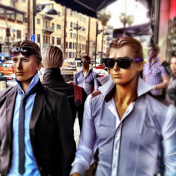 street scene manequins amman