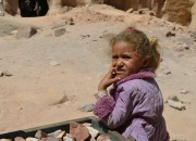 a bedouin girl in petra