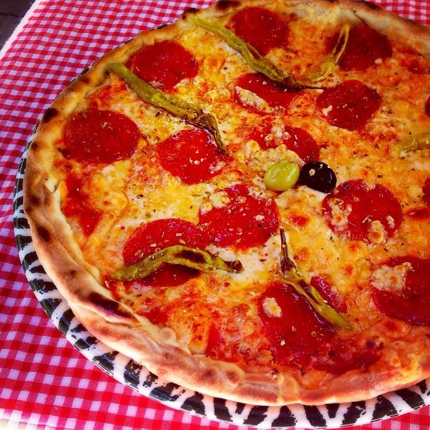 Delicious pizza in Dubrovnik, Croatia