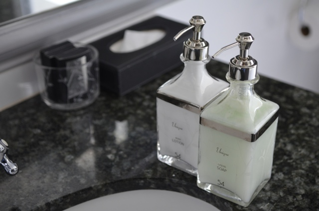 Soap products in a suite at 54 on bath Hotel Johannesburg, South Africa