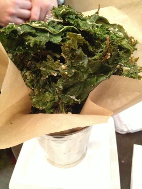 Kale Chips at Trios Bistro in Toronto