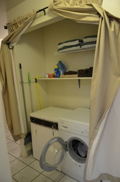 washer and dryer in Sunny Maui Condos