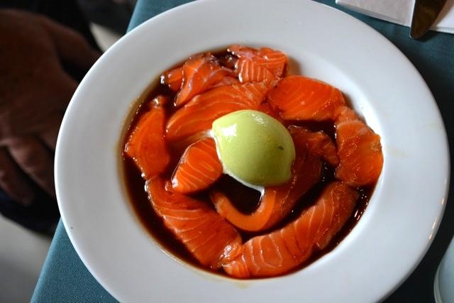 Uri Jeremias Buri salmon soya and wasabi sorbet