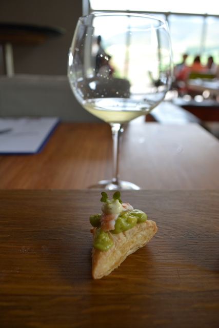 avocado, prawn and citrus, vanilla mayonaise canapes - tasting creation wines in south africa