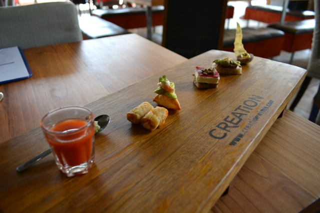 creation wines canapés - Tasting Creation Wines in South Africa