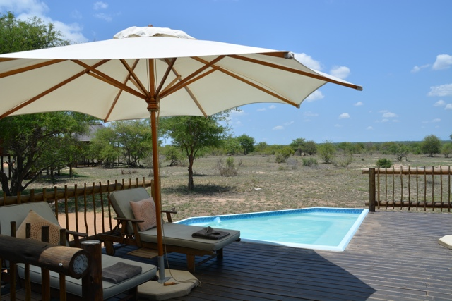 nThambo Tree Camp plunge pool sun deck
