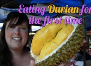 eating durian for the first time 2