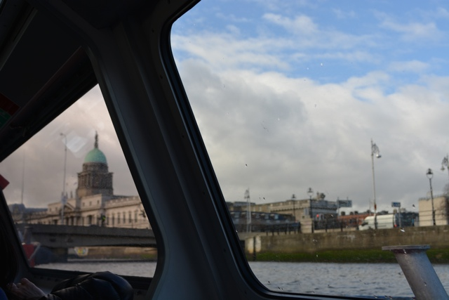 A view of Dublin from a boat cruise on the River Liffey - Dublin in a Minute