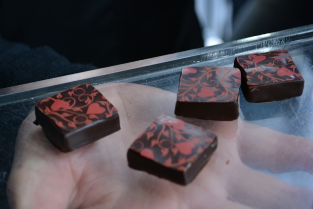 Rose and raspberry ganache chocolates - A Food Walking Tour in Dublin