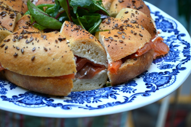 bagles and salmon with Fab Food Trails - Dublin in a Minute