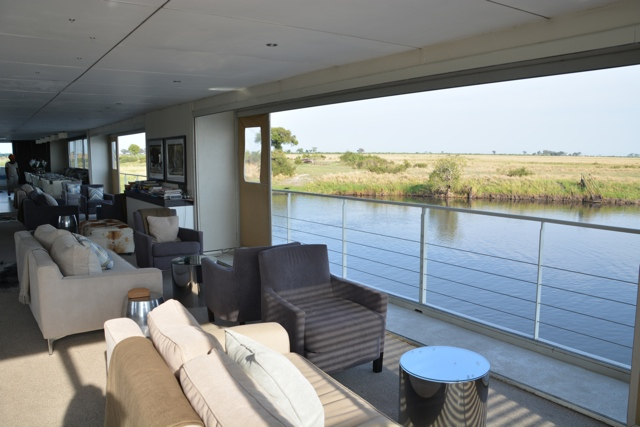 comfy couches for game viewing - staying aboard the zambezi queen