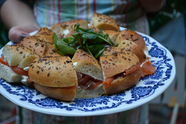 pepperpot salmon and cream cheese bagel - A Food Walking Tour in Dublin