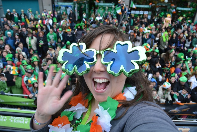 Cailin in the St Patrick's Day Parade - Travel Yourself 2014 Year in Review