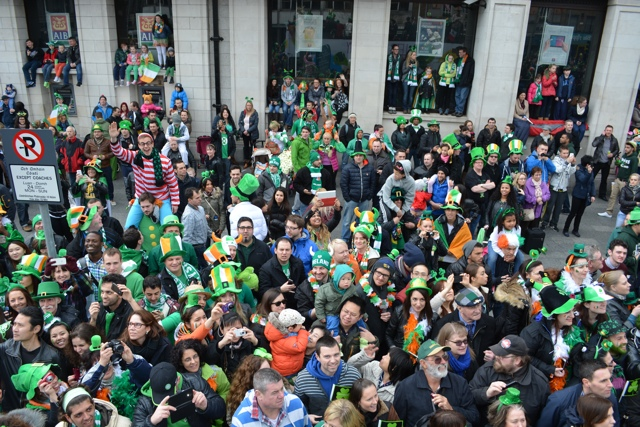 waldo at the st patricks day parade - Tips for Celebrating St. Patrick's Day in Dublin, Ireland
