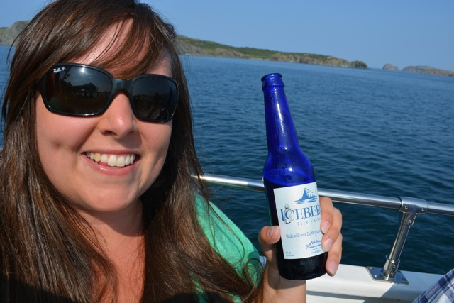 Cailin with Iceberg Beer - Interesting Food in Newfoundland