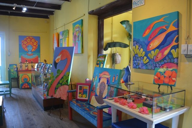Nena Sanchez paintings in west Curacao - Best Things to do in Curacao