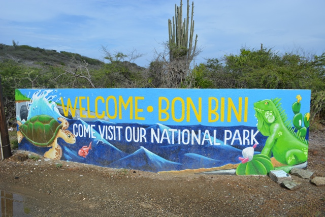 Shete Boka National Park sign - Best Things to do in Curacao