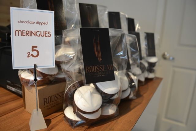 chocolate dipped merangues at Rousseau Chocolatier - My Big Day Downtown in Halifax