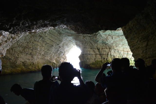 boat inside a grotto in Vieste - 5 Best Things to do in Gargano, Italy