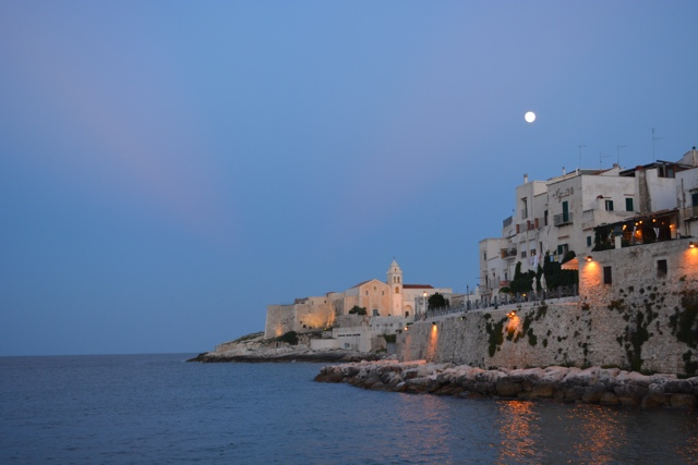 night falls in the small town of Vieste in Gargano - 5 Best Things to do in Gargano, Italy