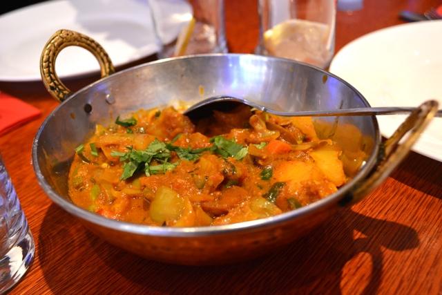 vegetable bhuna at aladin the best curry shop on Bricklane - eating london food tour review