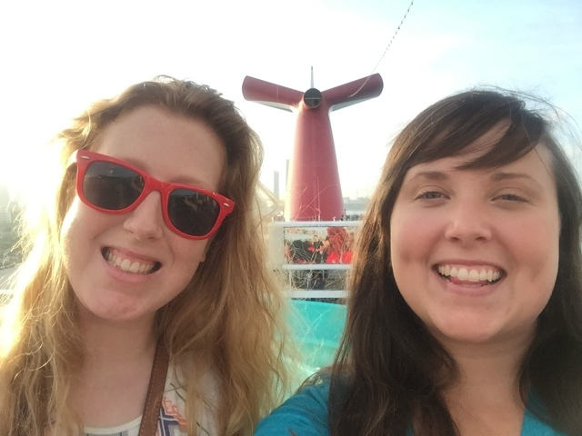 Candice and Cailin carnival cruise 2014