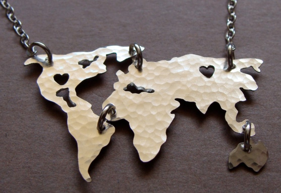 World Map Necklace Etsy - Best Christmas Gifts for People who Love to Travel