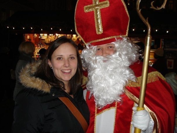 Cailin and Santa at the Munich, Germany Christmas Market December 2007 - Best Christmas Gifts for People who Love to Travel