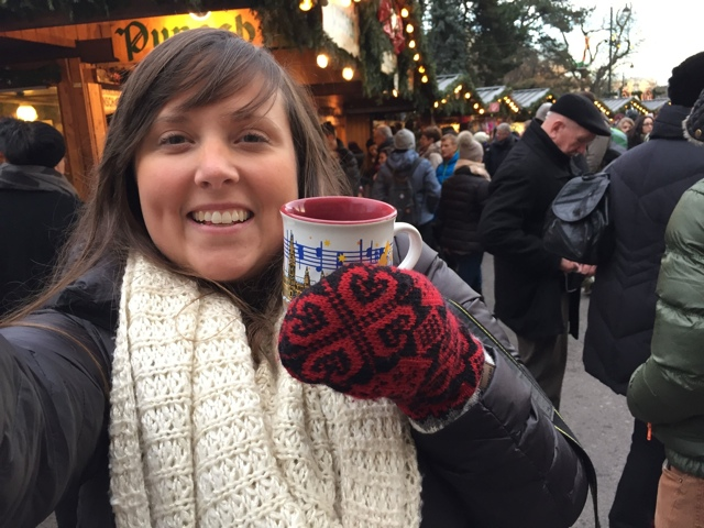 Cailin at a Christmas Market in Germany with Viking River Cruises - Travel Yourself 2014 Year in Review
