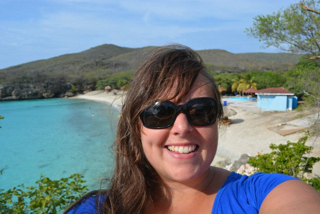 Cailin in Curacao at best beach in the Caribbean - Travel Yourself 2014 Year in Review