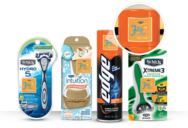 fly free with Schick products