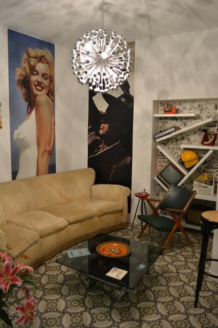 Vintage designed reception area - Retrome Boutique Hotel near the Colosseum in Rome