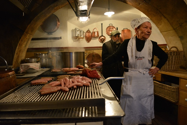 The Sausage lady at Regensburg, Germany's Historic Sausage Tavern - A Viking River Cruise on the Danube Through Europe