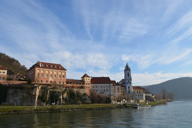 The picturesque Danube river between Melk and Vienna, Austria - A Viking River Cruise on the Danube Through Europe