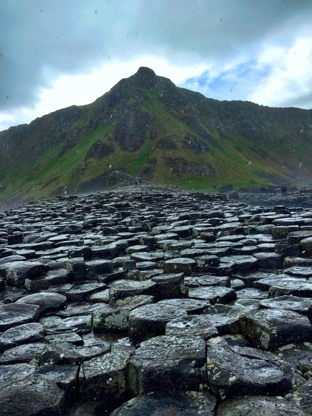 crazy weather hail storm at the Giant's Causeway - Tips for Exploring the Giant's Causeway in Northern Ireland
