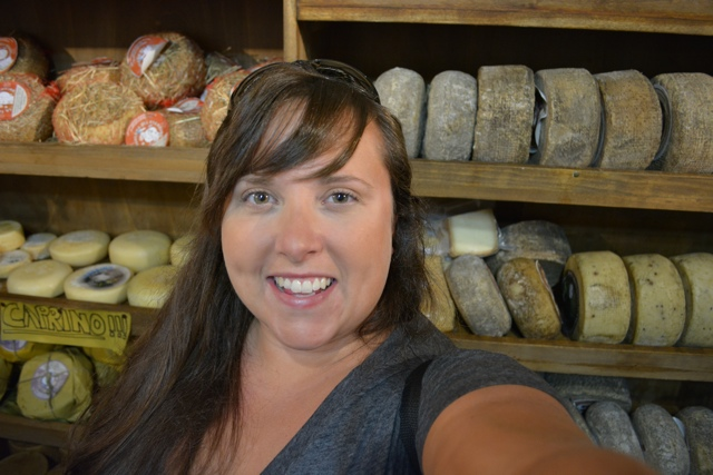cheese selfie - A Day Trip to Tuscany with Walks of Italy