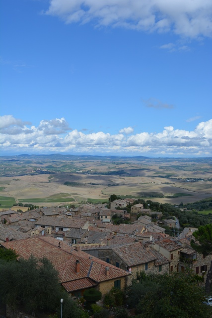 gorgeous view of Tuscany from La Fortezza Di Montalcino - A Day Trip to Tuscany with Walks of Italy