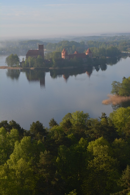 hot air ballooning over Lithuania's Trakai Castle Island - Hot Air Ballooning For the First Time
