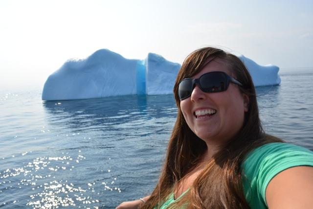 iceberg selfie in Twillingate, Newfoundland - Seeing Icebergs in Newfoundland