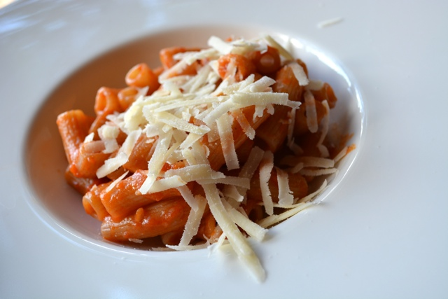 rigatoni pasta with elephant garlic at Podere Il Casale - A Day Trip to Tuscany with Walks of Italy