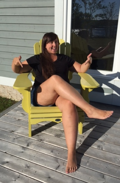 Cailin in an adirondack chair - Adirondack Facts - Things to know before you go