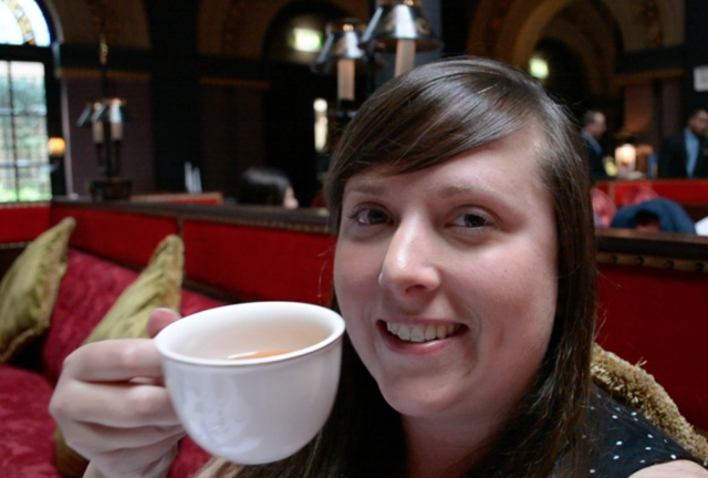 Cailin of TravelYourself.ca at the Merchant Hotel Afternoon Tea in Belfast - Afternoon Tea at Belfast's Merchant Hotel