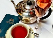 Fairtrade Merchant Tea Blend and forget brimont brute rosé champagne - Afternoon Tea at Belfast's Merchant Hotel