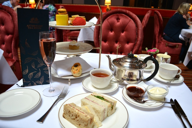 afternoon tea, champagne, sandwiches and dessert - Afternoon Tea at Belfast's Merchant Hotel